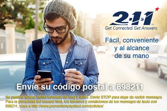211 texting spanish flyer
